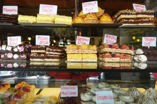 Kuchen, süße Teilchen, Muffins und Kekes enthalten nicht nur viel Zucker, auch viel Weizen.
