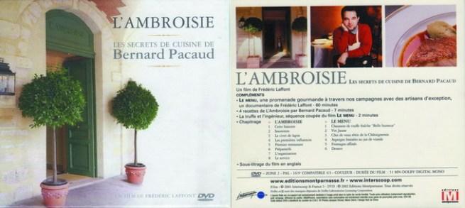 The DVD of l'Ambroisie - Les Secrets de Cuisine de Bernard Pacaud