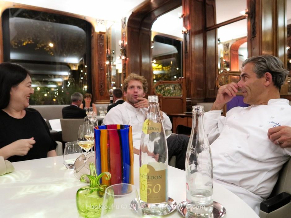 美食作家増井千尋、Lucas Carton 餐廳主廚Julien Dumas及Les Saisons主廚Thierry Voisin(從左至右)
