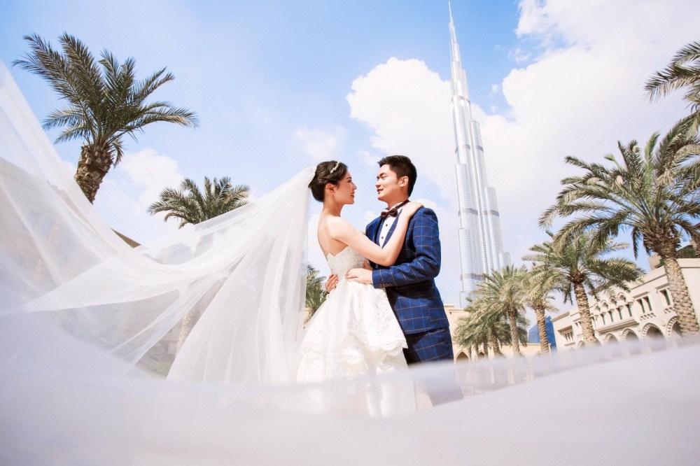 ドバイ Dubai   海外の 結婚式の前攝