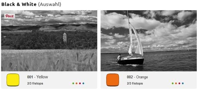 Cokin Filter für Schwarz - Weiß Fotografie