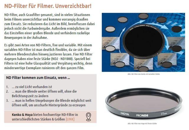 7 ND Filter Filmer Blende Helligkeit Video