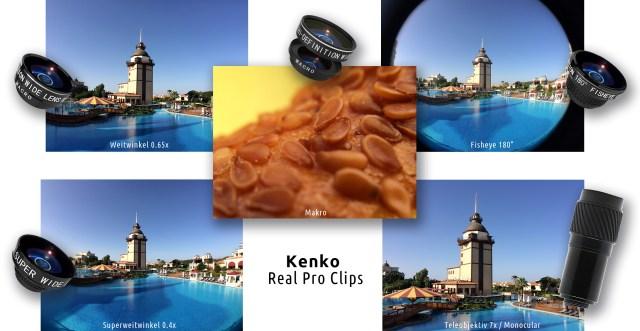 Kenko Real Pro Clips Hochwertige Vorsatzobjektive für Smartphones, Tablets und Laptops