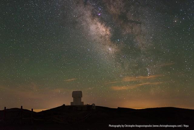 Die Milchstrasse über dem Aristarchos Telescope