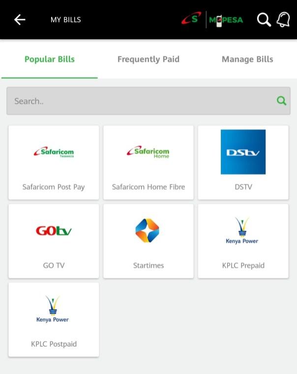 Safaricom Home Fibre - MySafaricom App
