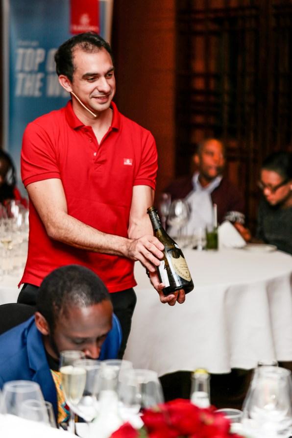 Victor Dituro_showcasing Dom Perignon at Emirates wine tasting