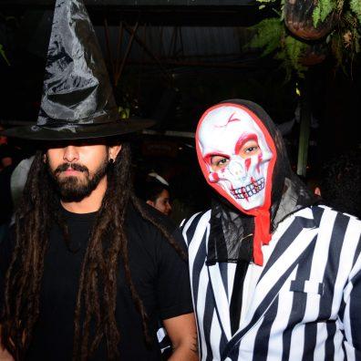 (L-R) Josh Hirani, Jay Hirani during the Halloween Masquerade party at J's Westlands.