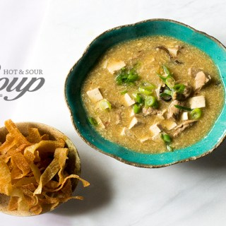 Hot and Sour Soup with Wontons