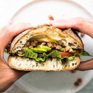 This Chorizo Torta is perfect for breakfast for lunch. It's quick, easy, totally delicious!