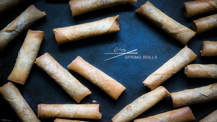 Spring Roll Banner with Text
