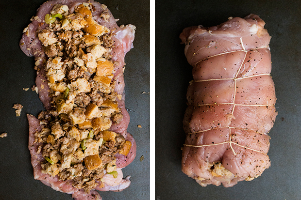 Turkey Roulade - Roll Collage