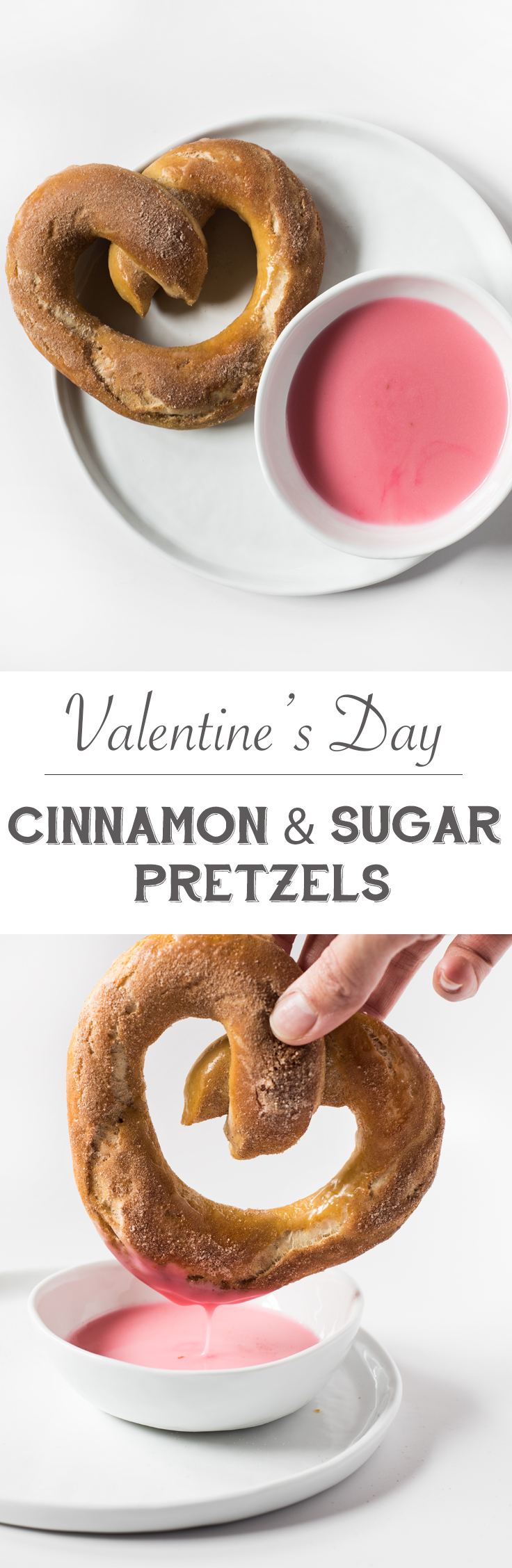 Give your love a piece of your heart this Valentine's Day with these Cinnamon & Sugar Heart Shaped Pretzels.