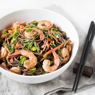 Soba Noodles with Shrimp