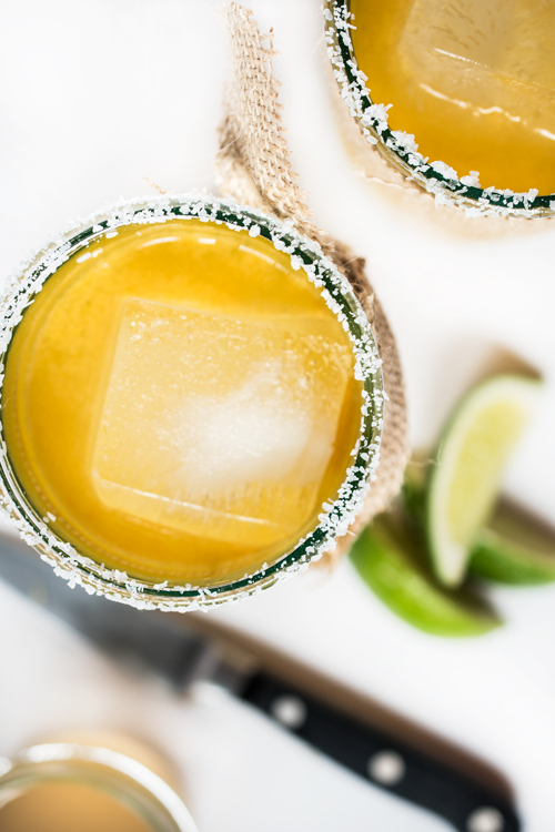 Just sit back, relax, put your feet up and enjoy this light and refreshing Ginger-Lime Margarita. Be warned... these babies go down easily.