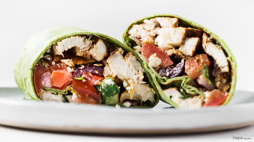 Quick, easy, healthy - Mediterranean Chicken Wrap