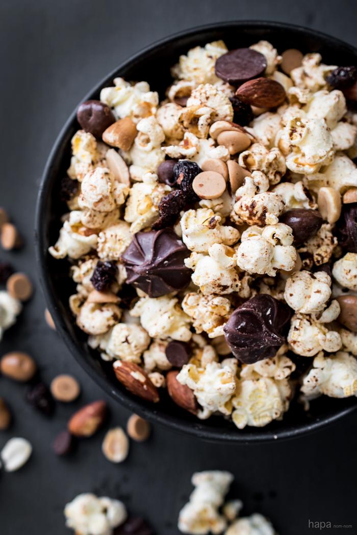 Spiced Trail Mix Popcorn