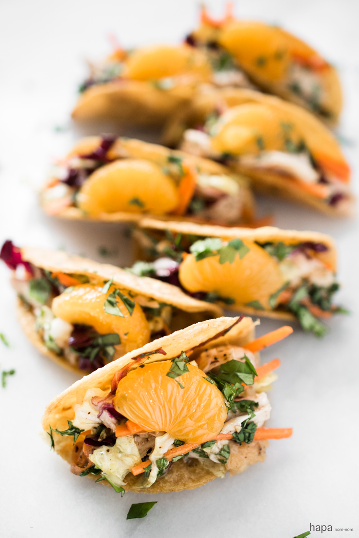 These Chinese Chicken Salad Mini Tacos are the perfect 2-bite party appetizer!