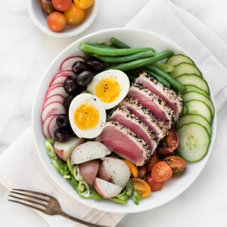 Sesame Crusted Ahi Tuna Nicoise Salad