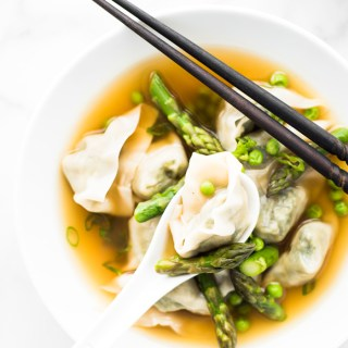 Spring Vegetable Wonton Soup