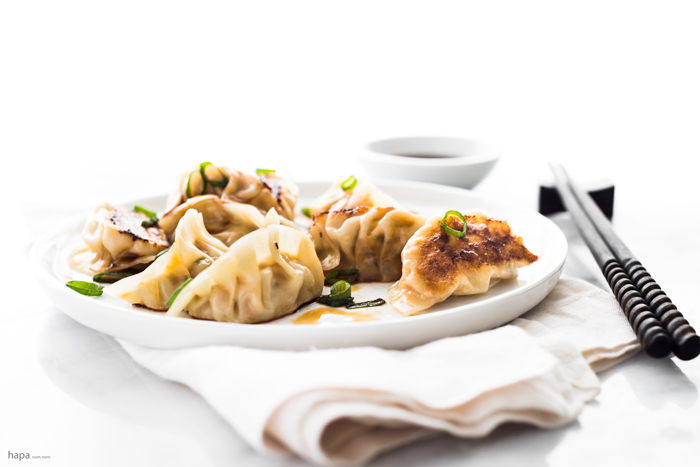 Spicy Chicken Pot Stickers with Ginger Infused Dipping Sauce (Dumplings / Gyoza) + a VIDEO to show you how to wrap them!