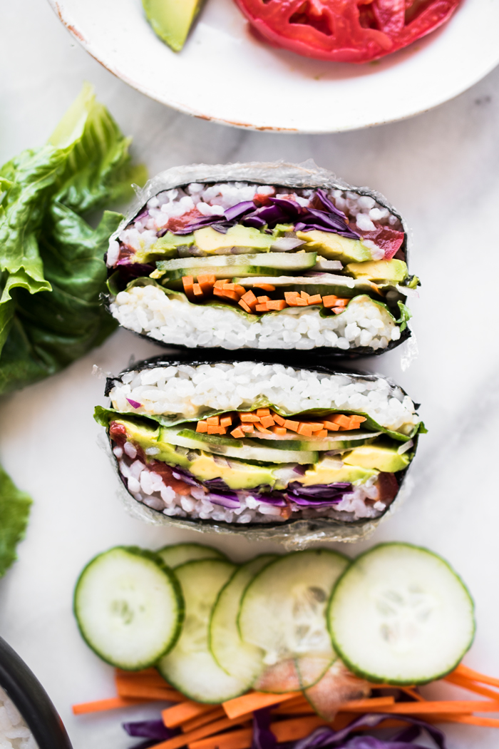 Light, portable, and totally customizable; this Japanese-style sandwich, known as Onigirazu, makes for a perfect light lunch!