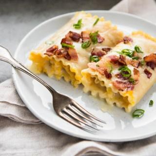 Roasted Kabocha Lasagna Rolls