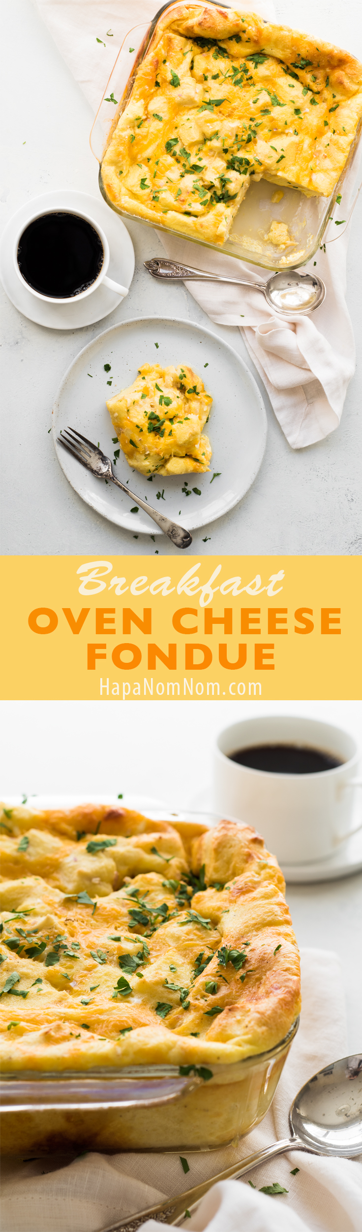 Easy to make, this Christmas Breakfast Oven Cheese Fondue can be made the night before and baked while you're opening gifts.