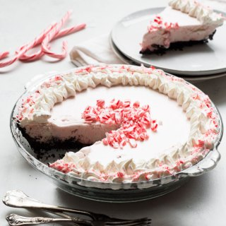 Candy Cane Ice Cream Pie