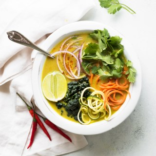 This Vegetable Coconut Curry Soup is rich, creamy, and packed with bold flavors and loaded with veggies.
