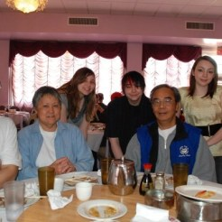 Family at Dim Sum