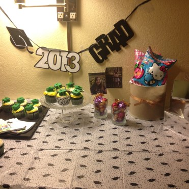 Party setup in hotel room