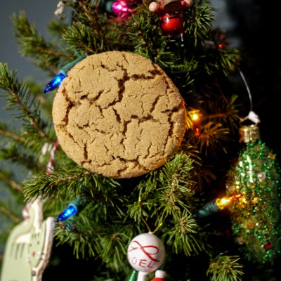 Crackle Top Ginger Molasses Cookies