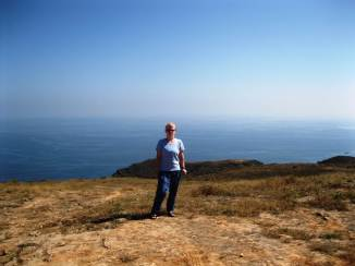 This is me with the Arabian Sea in the background