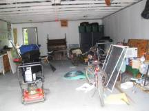 The garage is full of junk!