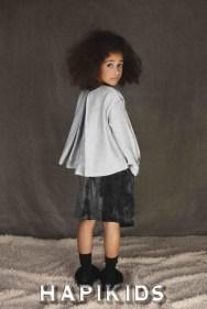 Бархатная юбка и пушистые тапочки в UNLABEL для осень / зима 2017 детская одежда