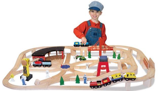 Комплект деревянный железнодорожный Melissa & Doug Deluxe