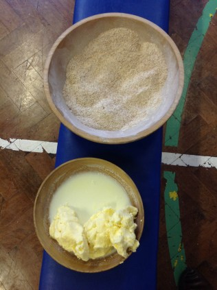 Butter & flour from KS1 Castle Life workshop