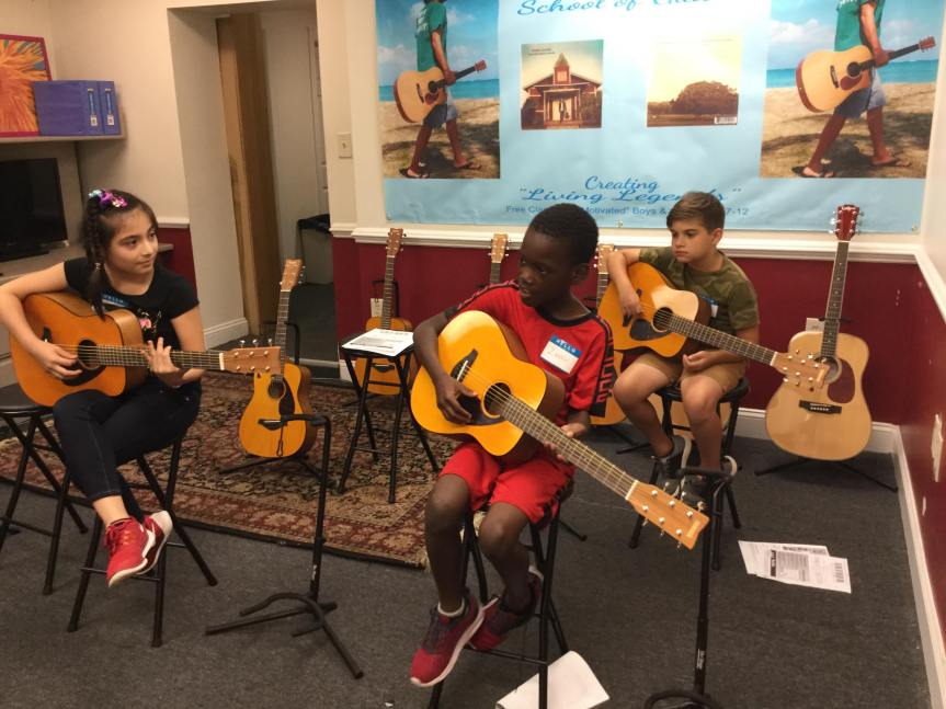 FREE Youth Guitar Classes in Norristown, Creating Living Legends