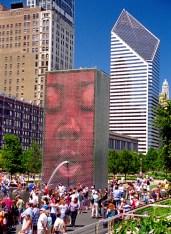 Jaume Plensa, Crown Fountain, 2014. Located in Chicago's Millenium Park
