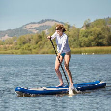 Paddleboarding at Spring Lake Park
