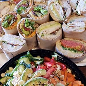 Sandwiches an salad at Zoftig Eatery