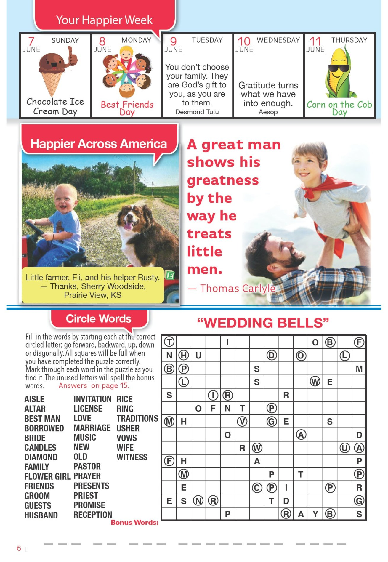 Crosswords, sudoku, circle words and more games