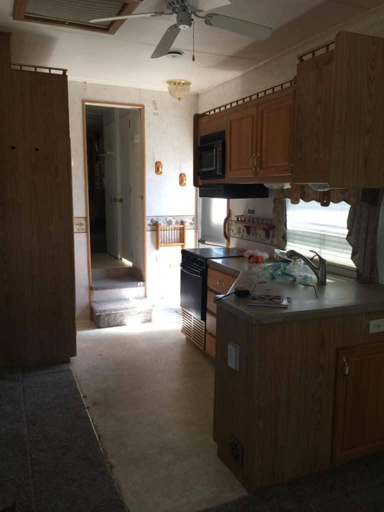 RV Kitchen Before