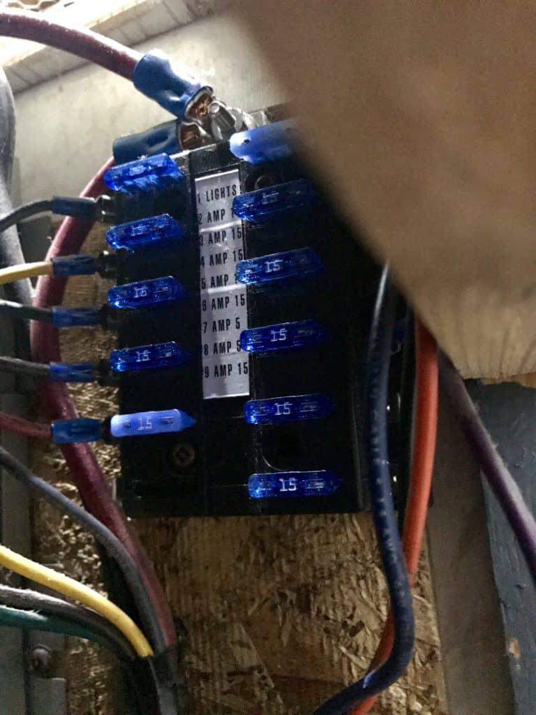 RV Breaker Box Lights