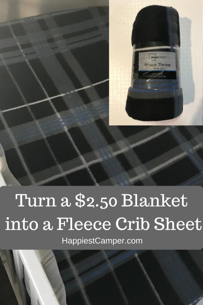Turn a $2.50 Blanket into a Crib Sheet