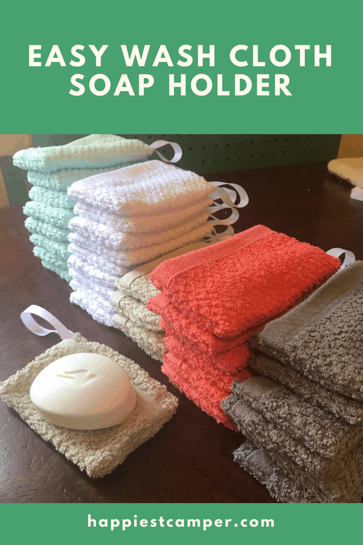 Easy Wash Cloth Soap Holder Sewing DIY Project