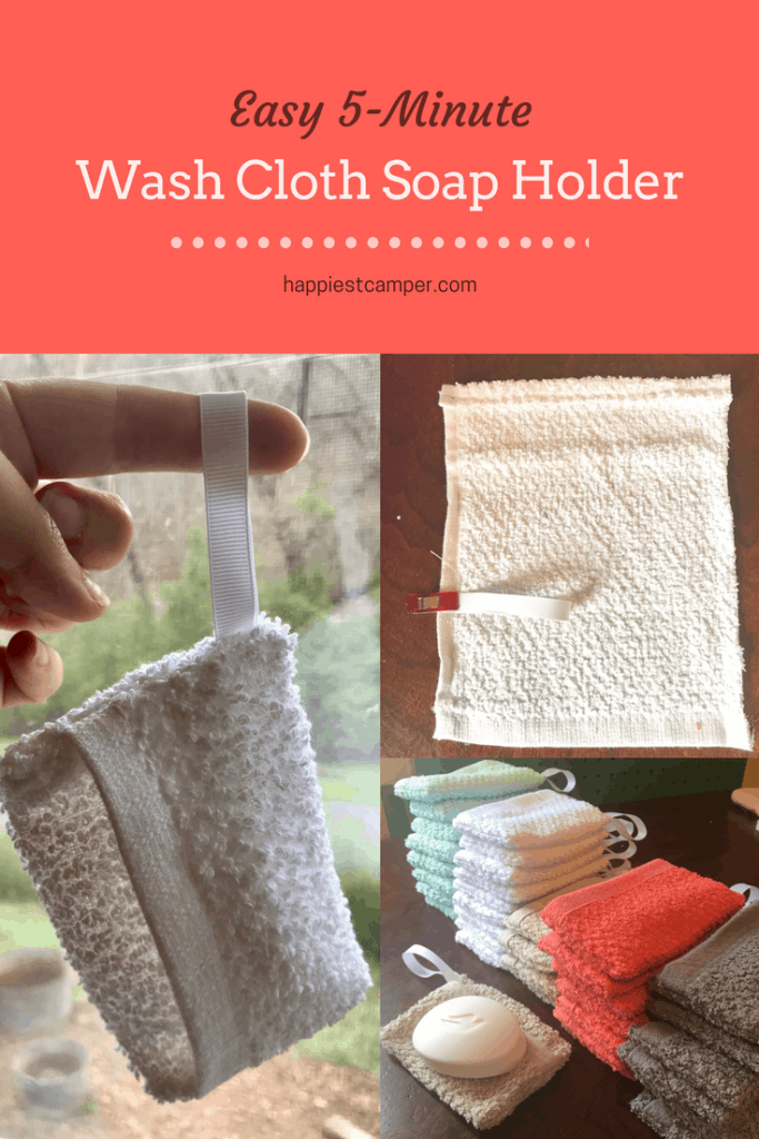 Easy Wash Cloth Soap Holder Sewing Project