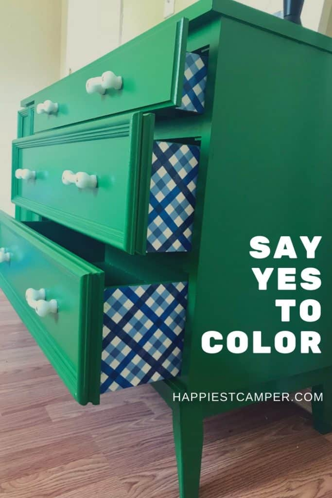 Dresser Makeover Green Furniture DIY