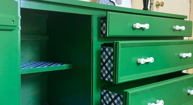 Dresser Makeover in Kelly Green