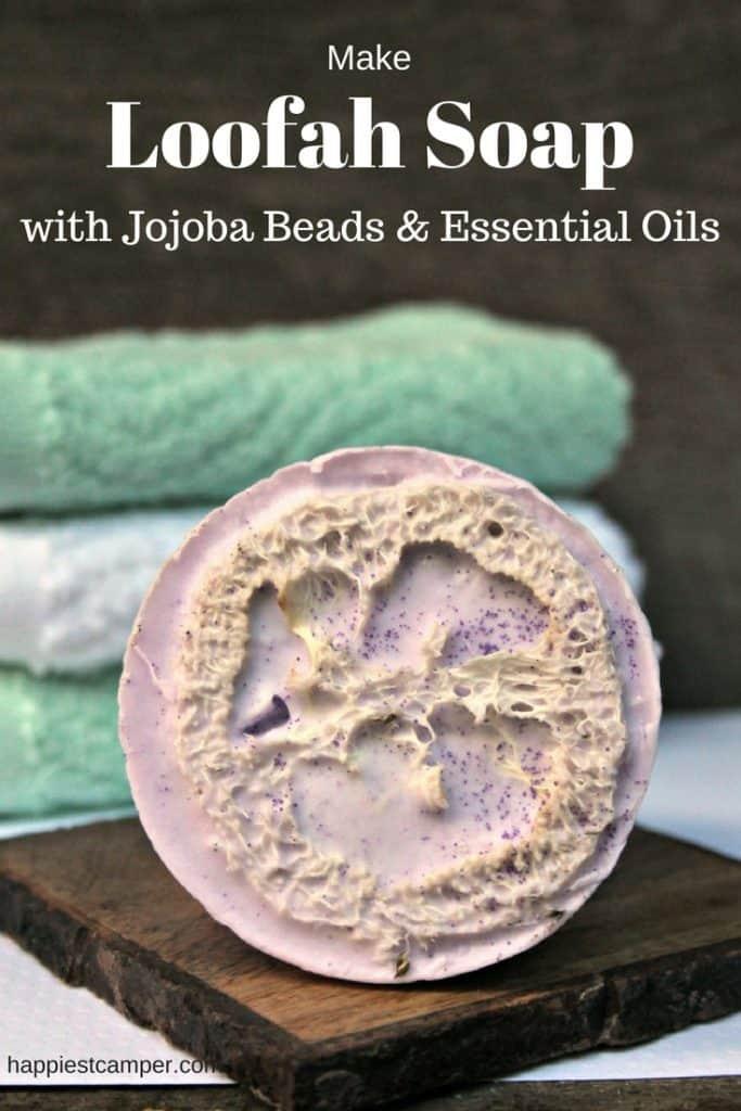 Loofah Soap Jojoba Beads Essential Oil